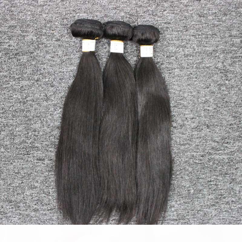 Высочайшее качество шелковистой прямой перуанский бразильский Уток Связки человеческих волос Weave индийский прямой бразильский волос Пучки человеческого Плетение волос
