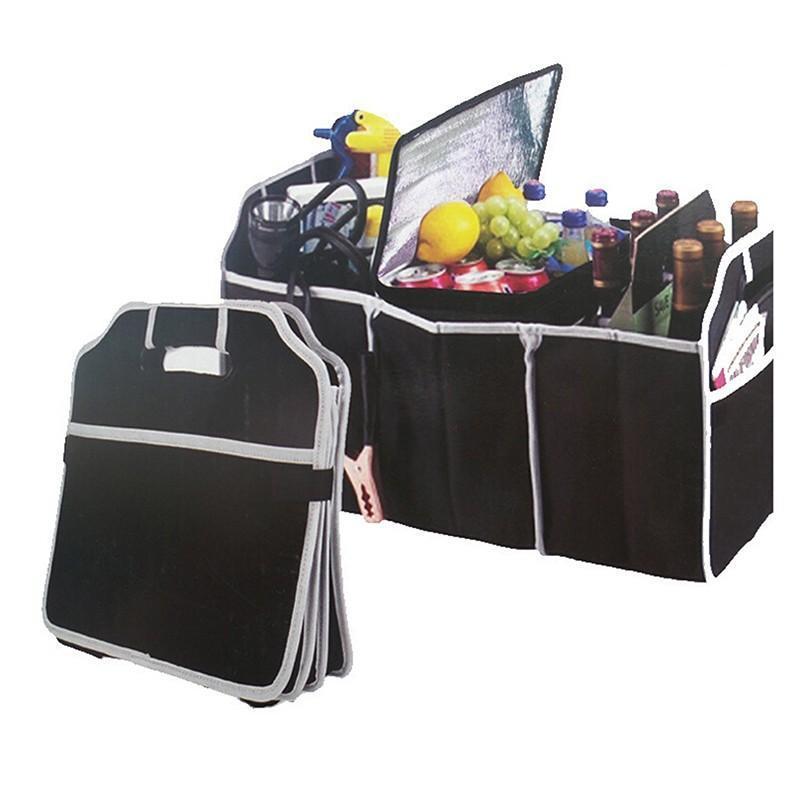 Большая емкость Сумка автомобилей для хранения инструмента Органайзера Косметических Сумок Случаев Контейнер Box Folding Магистральных хранения сумка Toolbox Черных