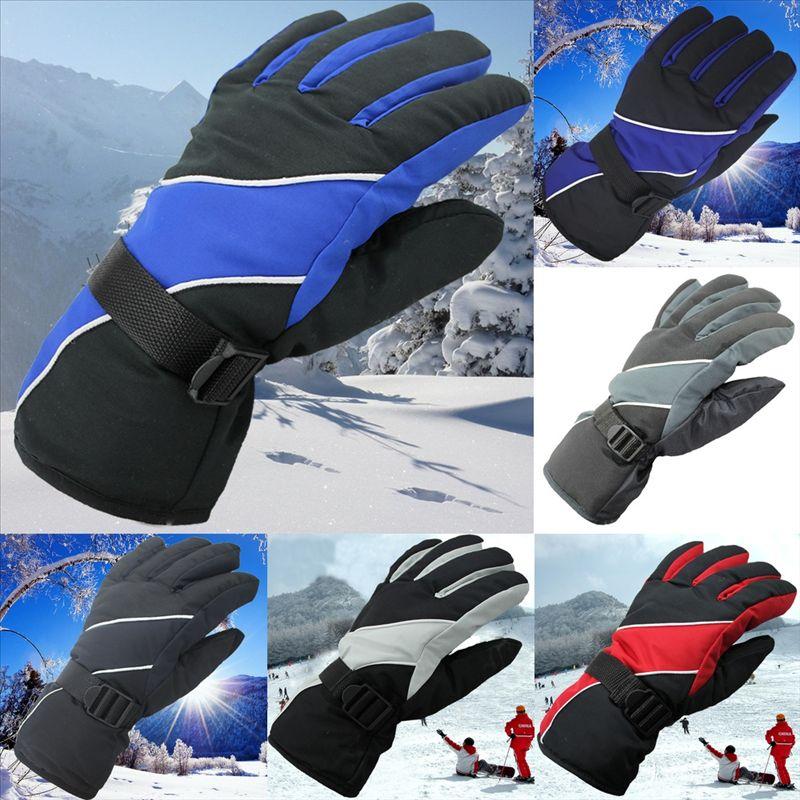 GCU1Y Перчатки мужские лыжные лыжные лыжные лыжи Новые Водонепроницаемые лыжные лыжи, Утепливающие перчатки, Снегоходы, Зимние Перчатки, Ветродобывающиеся, Водонепроницаемые и нейтральные