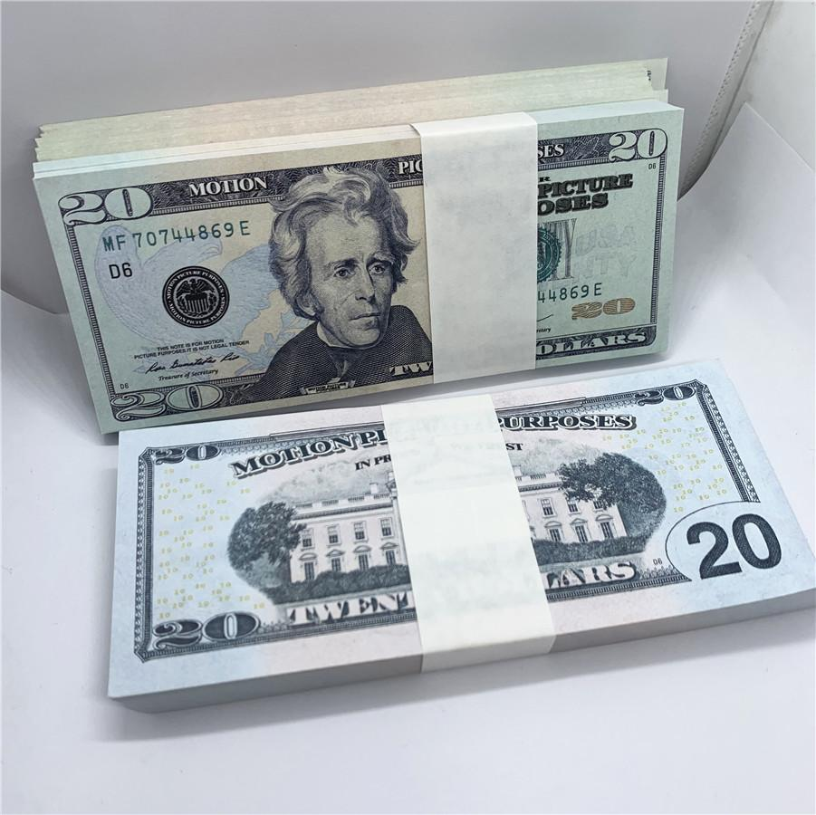 100 stücke / paket neues design 2021 bar party banknoten dollar kopie banknoten großhandel realistisch vorgeben Geldpapier A41