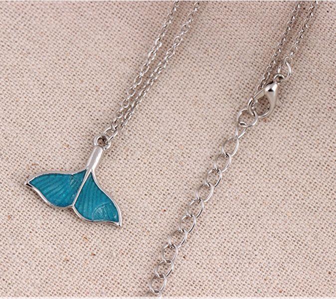 Рыба хвост ожерелье океан Sea Blue Enamel рыба кулон ожерелье Luminous ожерелье