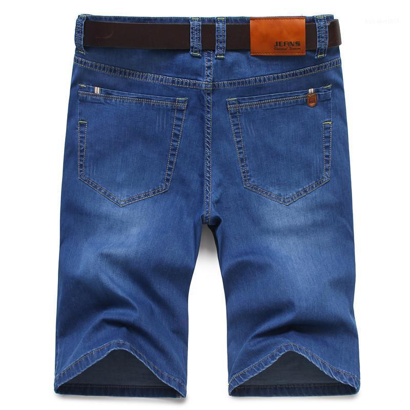 Pantalones vaqueros para hombres 2021 VERANO DENIM Shortsdenim Shorts Fashion Business Casual Slim Stretch Flacny Hombre Ropa Negro Blue1