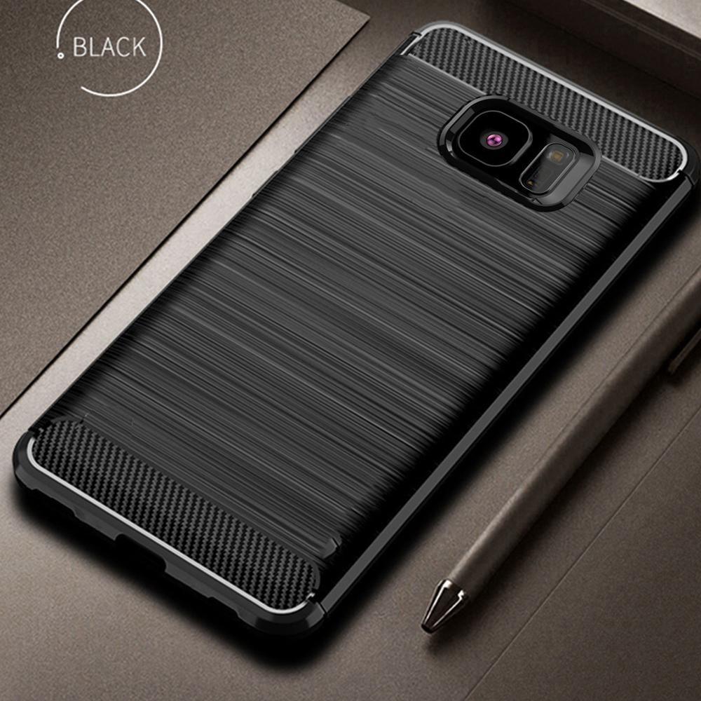 Para Samsung Galaxy S7 S 7 Borda Caso Capa de Fibra Carbono Capa de Telefone à prova de choque para Samsung S6 S 6 Borda Tampa Full Protection Shell