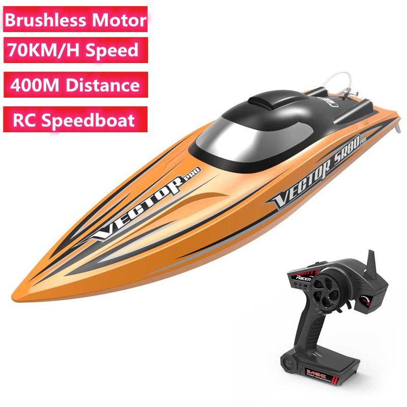 70KM / H ad alta velocità di telecomando RC Motoscafo Brushless Potenza motore RC barca di corsa giocattolo 400M RC Distanza di alta qualità
