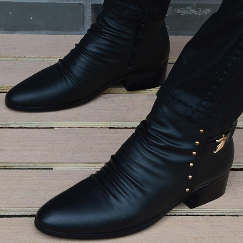 NUEVA MODA MODA BOTAS HOMBRES GENUINOS HOMBRES HOMBRES BRITÁNICOS OTOÑO DE OTOÑO DE INVIERNO CALIENTE BOOTS HOMBRES Hombre Zapatos casuales Zapatos Hombre Hombre 201127