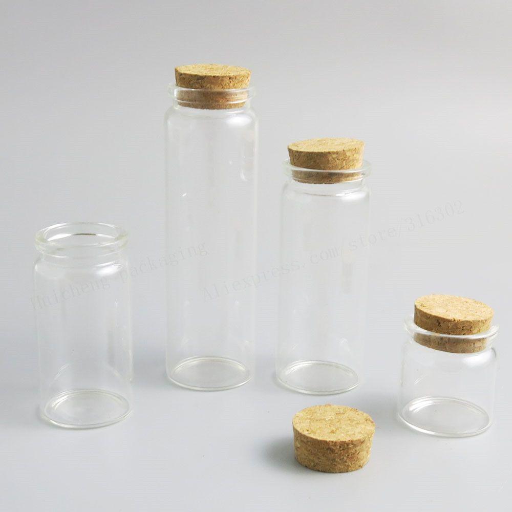 240 x 20ml 50ml 65ml 100 ml 5 uncji Refillable Pusta butelka szklana z drewnianym korkiem 5 / 3oz fiolki Duży pojemnik