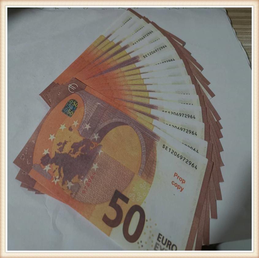 Fast Game Regali di gioco all'ingrosso Ripresa in euro Coin Adult Valuta Simulazione Token Token e 52 oggetti di scena Play Collection of Festival 50 PCQTA
