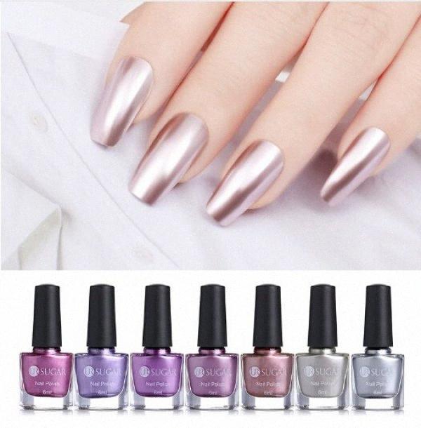 Effet Miroir 6ml métallique Nail Or Rose Violet Argent Verni Chrome Art Vernis à ongles manucure laque oufs #