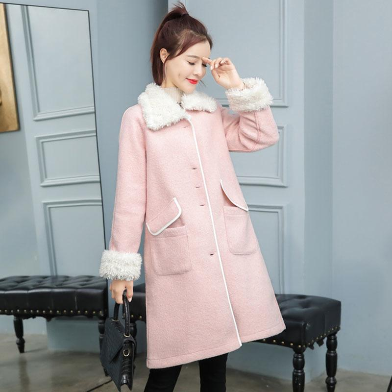 2020 Fall Clothes For Women Coats And Jackets Winter Plus Size Clothing Pink Long Woolen Korean Fashion Autumn Oversized warm