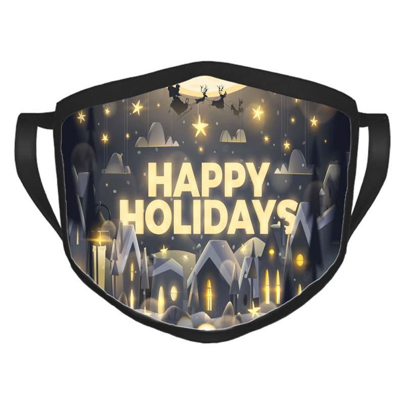 Рождество Открытой маска Рождество Маска мультфильм Happy Holidays Открытка в Подходят для взрослых и детей Рождества