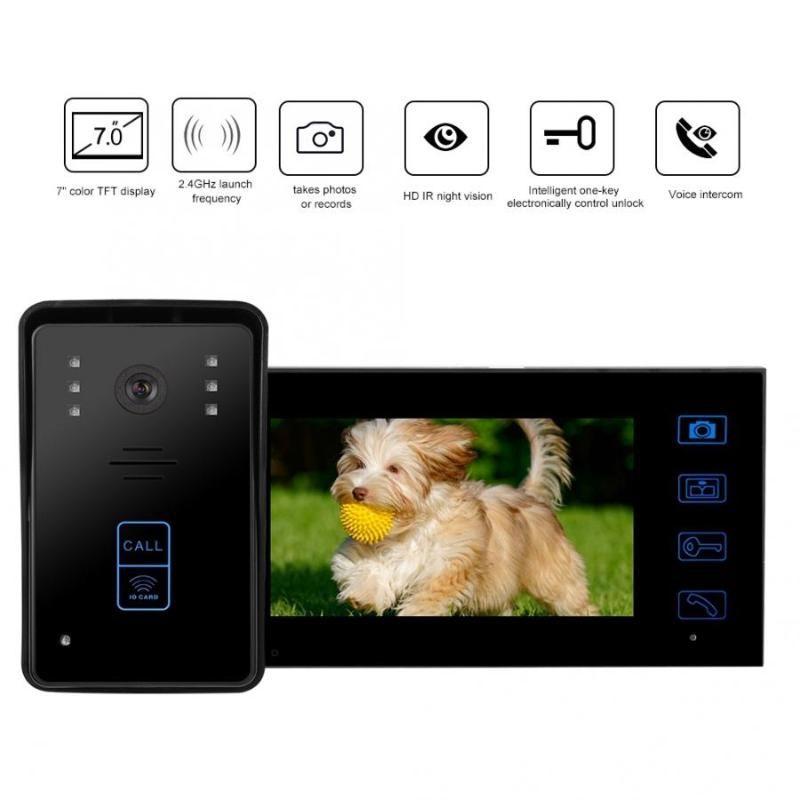 """Wireless 7""""inch Intercom Doorbell Video Door Phone Visual Doorbell hands-free Home Security Camera Night Vision hot"""