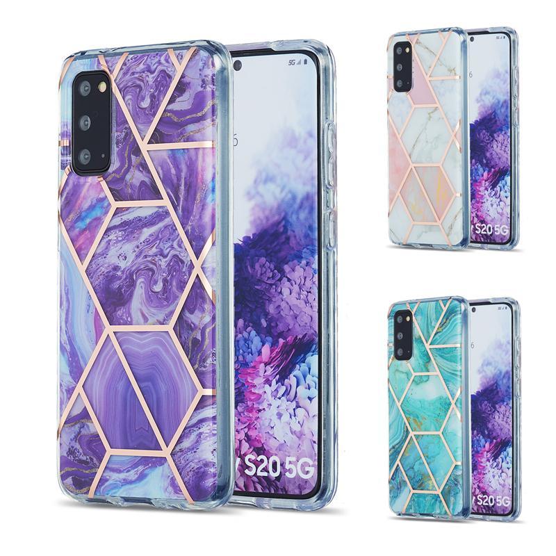 Custodia per telefoni marmante Bling per Samsung Galaxy S20 FE S21 Plus S30 Custodia Ultra Custodia per Samsung A71 A51 A21S M51 M31 A42