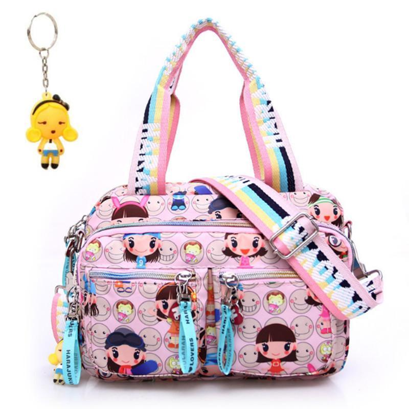 + кукла брелок новый розовый Harajuku кукла водонепроницаемая нейлона сумочка дамы одно плечо сумки кросс-тела школьные сумки сумки мама