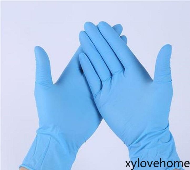 Nuevos guantes de látex de nitrilo desechables 3 tipos de especificaciones opcionales anti-patín antiácidos B GRABONO GLOVE GLOVE GUANTES DE LIMPIEZA DE LIMPIEZA
