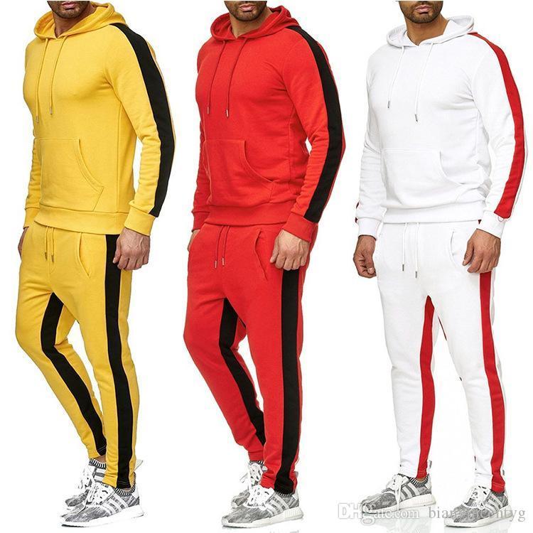 Herbst Mens Designer Mode Tracksuits Sweatsuit Zweiteiler Top-Hose mit Kapuze lose beiläufige Hoodie Outdoor-Sport-beiläufige Street Anzug Set