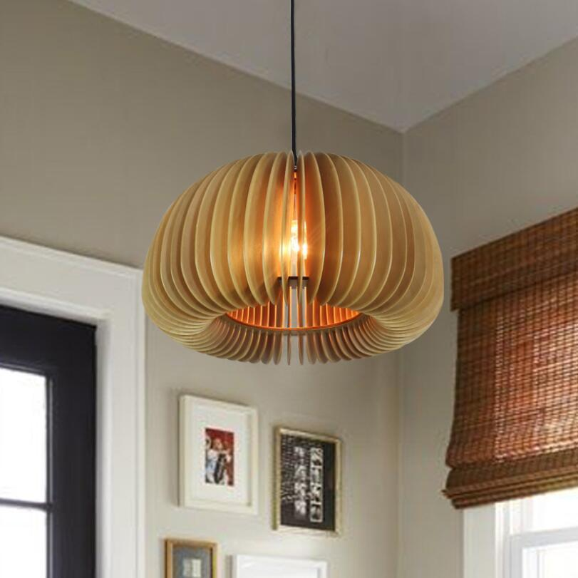 Nordic chandelier solid wood creative personality living room porch bar restaurant retro Nordic Chandelier