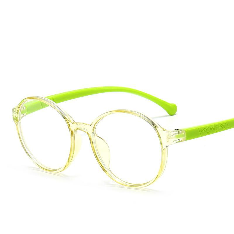 Child Round Cadre Eyeglasses Garçons Filles Anti-Bleu Lentille UV400 Protection Childrenune Mode Design Gafas de Sol Ntskg