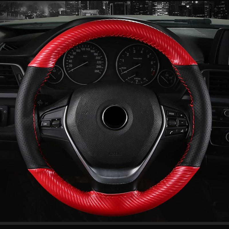 Углеродные волокна кожа цвет соответствия спортивный ручной сшиты руль крышка Четыре сезона General Motors сцепление крышка не скользит и износостойкий