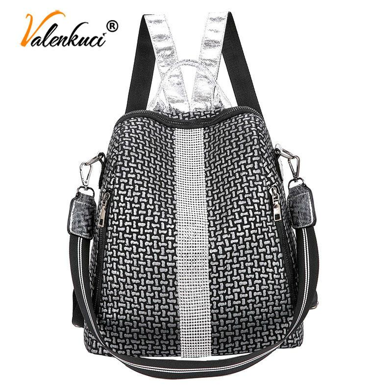 Multifunction Shoulder Bags Fashion Summer Backpack Leather Women Backpacks Light Lady Large Capacity School Bag Q1221