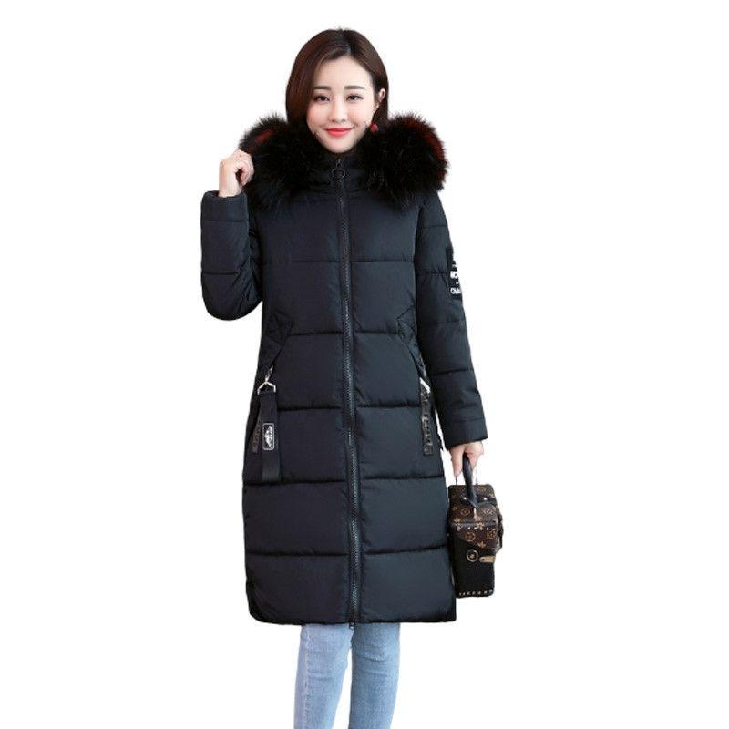 Yeni Kadın Kış Ceket Uzun Ceket Büyük Boy 6XL Sıcak Kalınlaşmak Faux Kürk Kapüşonlu Mont Parka Kadın Katı Ceket Dış Giyim P30 T200905