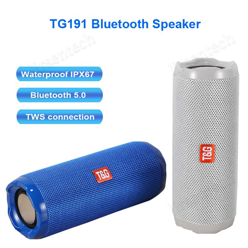 TG191 Altavoz Bluetooth Impermeable IPX5 Altavoz inalámbrico para teléfono PC PC COLUTA DE AUTORIA Bluetooth 5.0 TWS Music Center