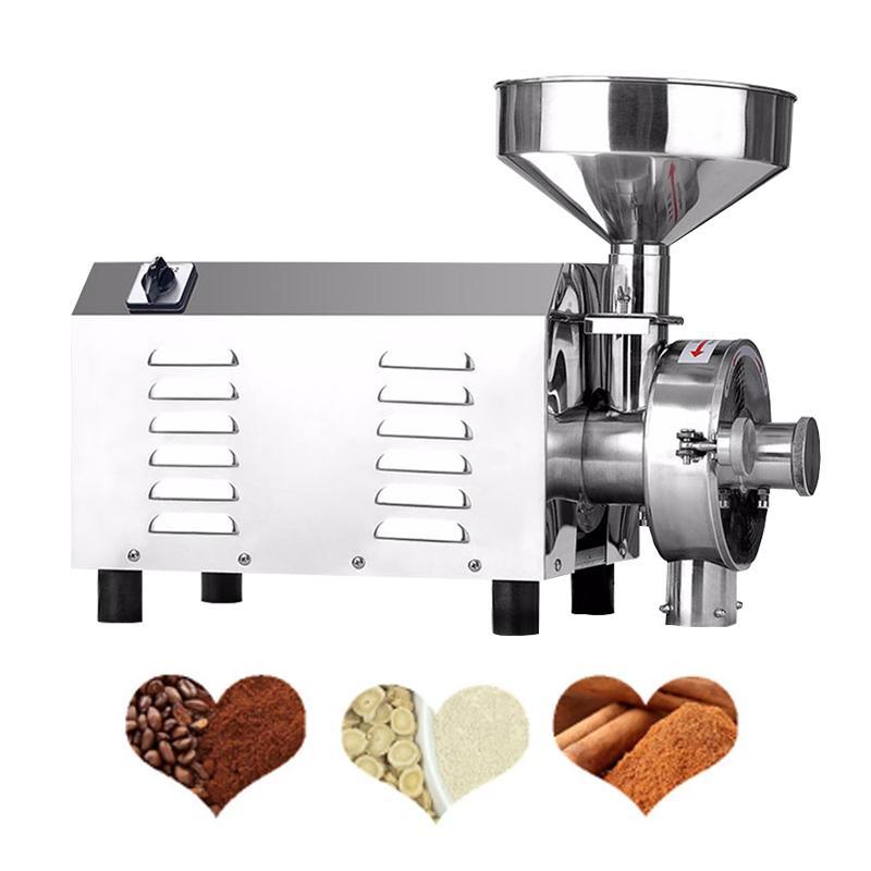 Moedor de pó fino comercial 1500W / ervas elétricas Spice Coconut Coconut Cereal em pó de moagem / grão milho de moagem de pó