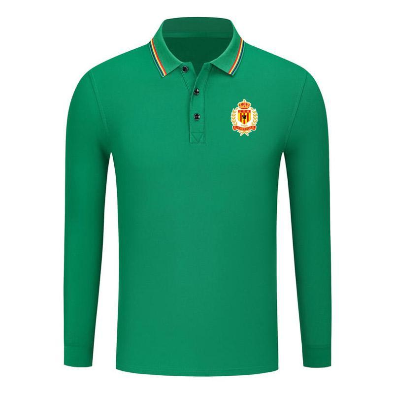 KV Mechelen Autunno Nuovo cotone manica lunga camicia a maniche lunghe confortevole golf polo manica lunga a maniche lunghe con risvolto manica lunga polo sportivo da calcio