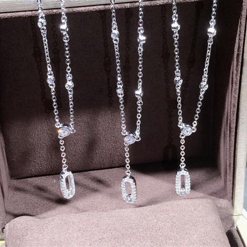 2019 nueva joyería de lujo de la llegada 100% puro 925 Zafiro Blanco CZ Diamond Mover el tobillo de piedras preciosas para el tobillo lindo regalo dulce