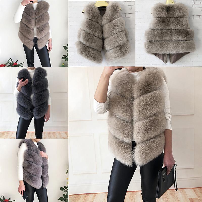 High-quality real fox fur vest 100% natural fox fur jacket Genuine Leather Coat Jacket 2020 new style women's stylish fur coat LJ201021