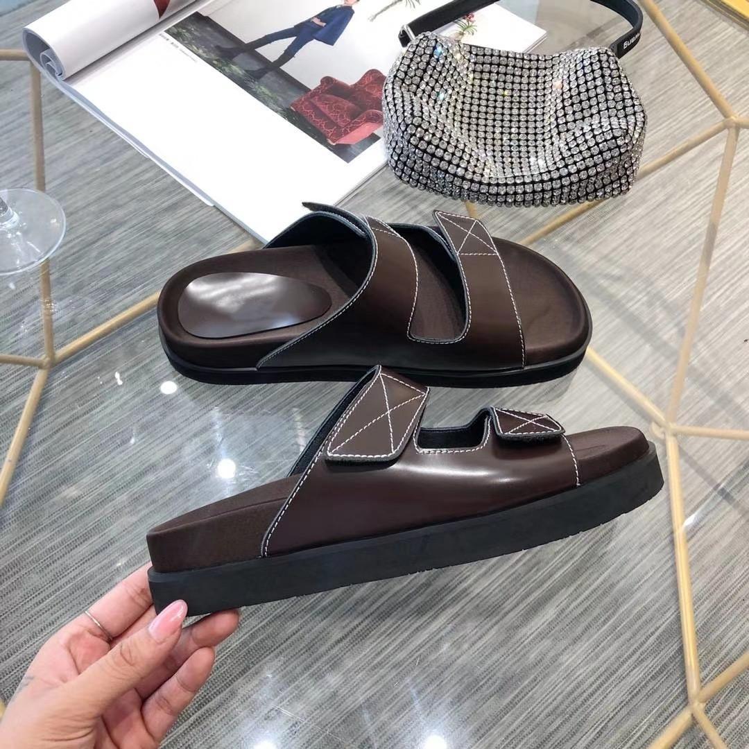 Printemps / Été 2020 Nouvelle haut de gamme Qualité Tempérament Lady cuir en peau de mouton perle deux couleurs SW chaussons Size35-40