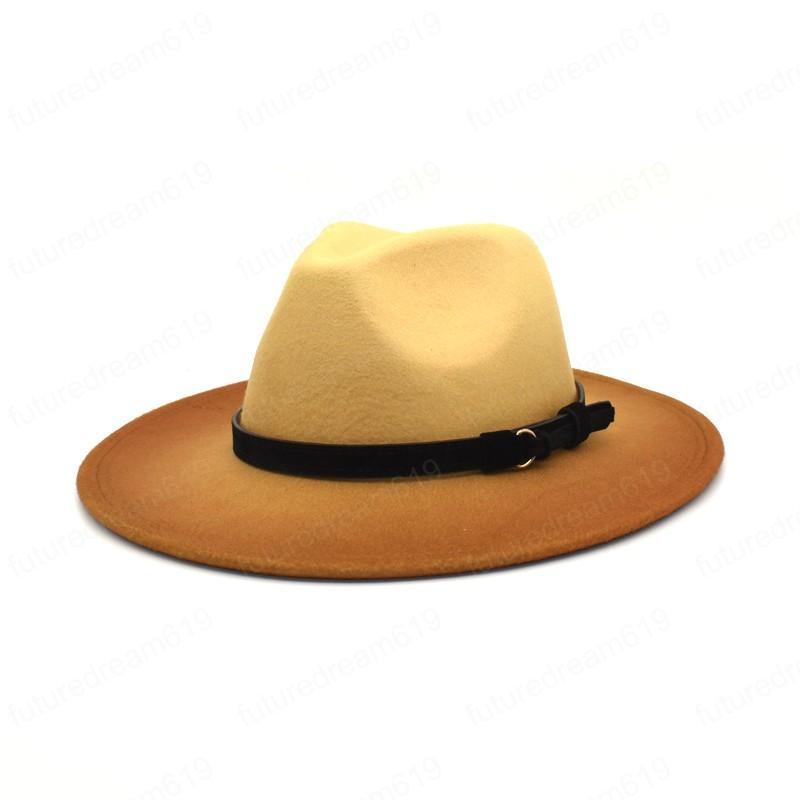 NOUVEL NOUVEAU HEIME TIE DE LA LAINE DYE FEDORA Chapeau FEDORA POUR LES FEMMES PANAMA BOWLER HATS GRAND BRIM VINTAGE WESTERN WESTERN MEN MEN JAZZ CAP