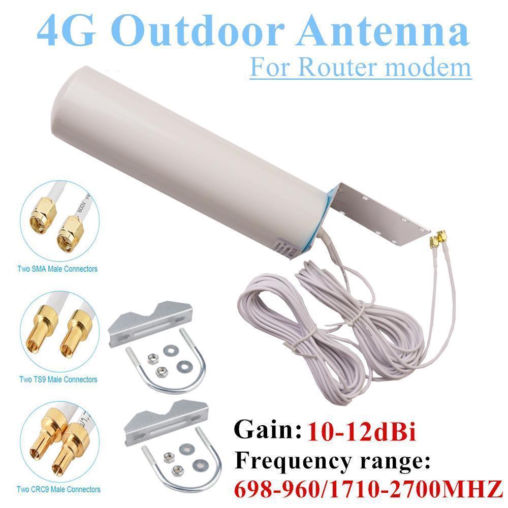 Wifi Antenne CRC9 4G LTE-Außenantenne Sma Omni Antenne 3g ts9 Mit 5 Meter Dual-Anschlusskabel für Huawei Zte Router Modem T200608
