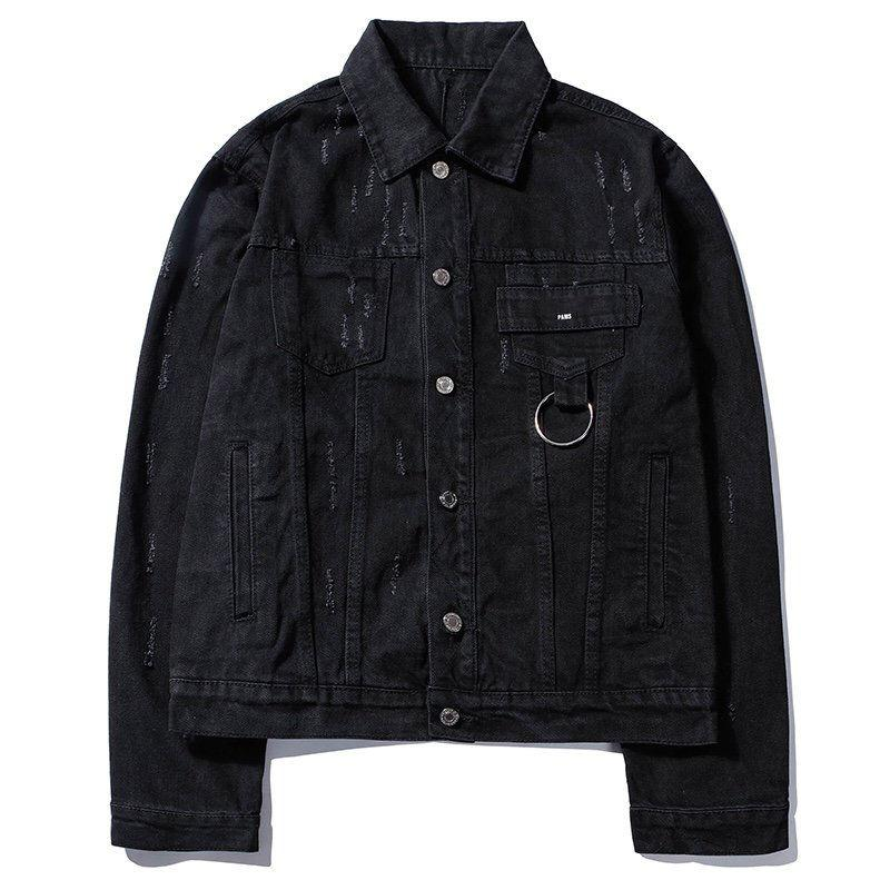 Men Fashion Vintage Denim Jackets Coat Women Stylish Denim Jacket Letters Jacket 2020 Mens Womens High Quality Jacket Hip Hop Black Clothing