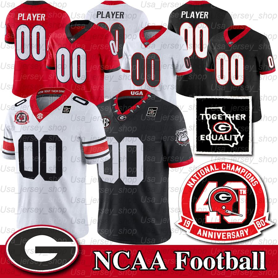 Benutzerdefinierte Georgia Bulldogs Jersey Jake Fromm d'Andre Swift George Pickens Stetson Bennett Dominick Blaylock Mark Webb NCAA Sugar Bowl Patch
