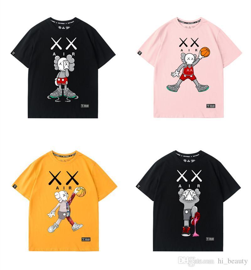 T-shirt Mandkaws 2020 GIOVANI ESTATIVA Allentati grandi maniche corte in cotone per ragazzi e ragazze