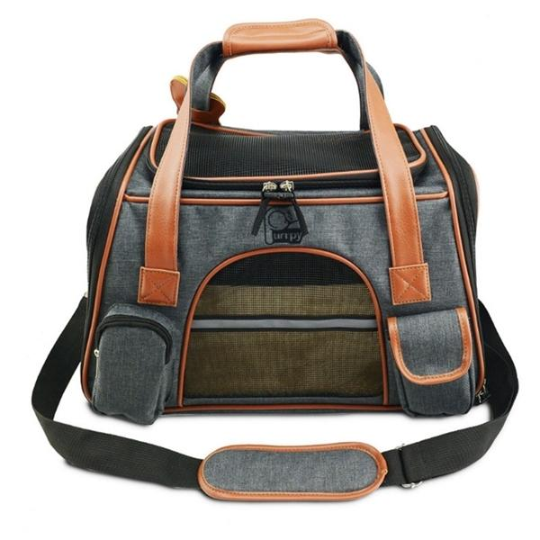 Carrier Car Seat Pet Carriers Portable Backpack Cat Cage Breathable Small Dog Travel Bag Airplane Approved C1008