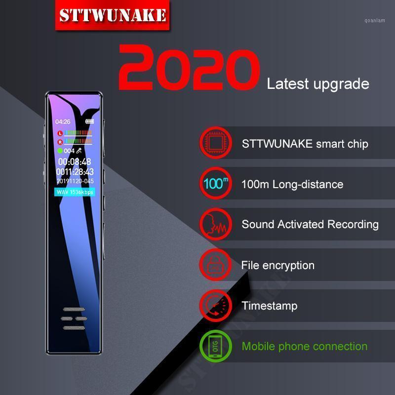 STTWUNAKE Voice Recorder Sound Dictaphone Mini Audio MP3-плеер Цифровая профессиональная запись записи HD активированный цвет экрана1
