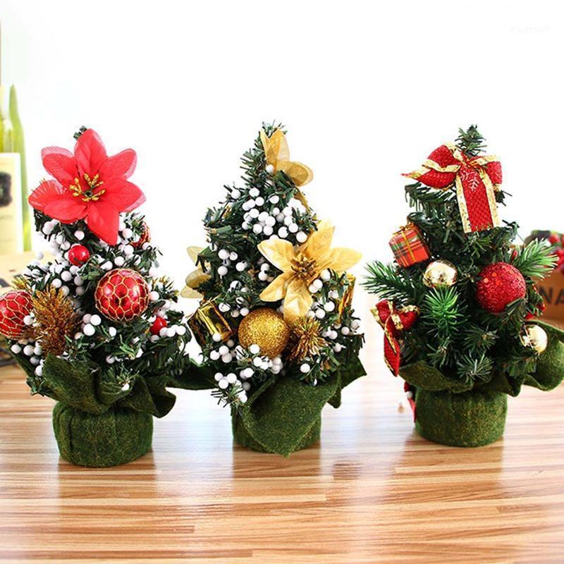 20 cm mini árbol de navidad flor decoración festival festival ornamentos de fiesta regalo de Navidad para el hogar Navidad árbol escritorio ornamento1