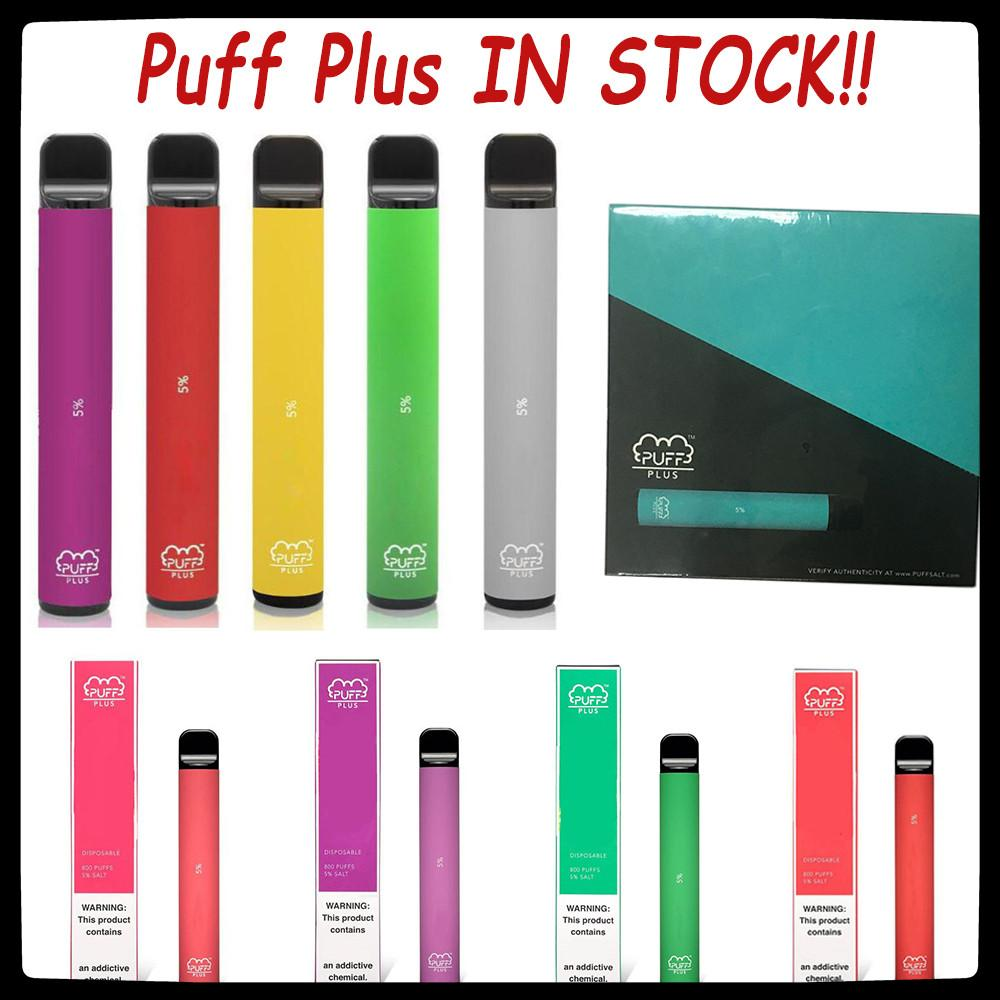 Puff Bar Plus Disposable Vape Pen Device 800 Puff 3.2mL PreFilled PodS Vape Cartridge 550mAh Battery puff xxl FLOW disposable e cigarettes
