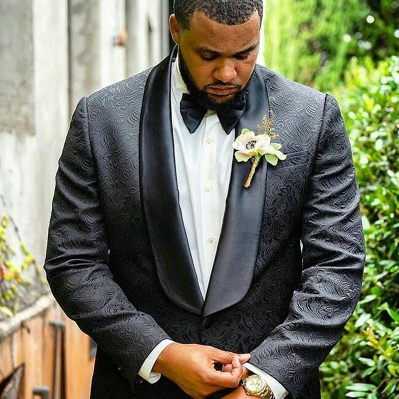 Erkekler Takım Elbise Blazers Özel Siyah Düğün Erkekler Için 2021 Kostüm Homme Mariage Slim Fit Erkek Takım Elbise Terno Masculino Man Blazer 2 adet Balo Parçası