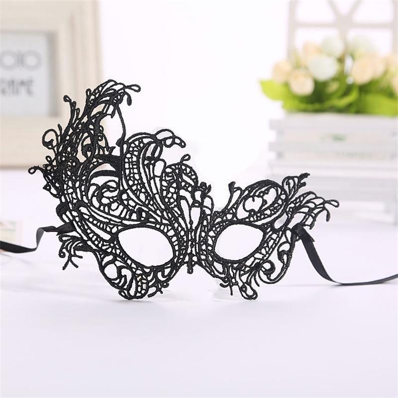 Lace donne sexy nero ritaglio caldo travestimento veneziano per la mascherina del partito Club Fancy Halloween Costume Phoenix Eye V