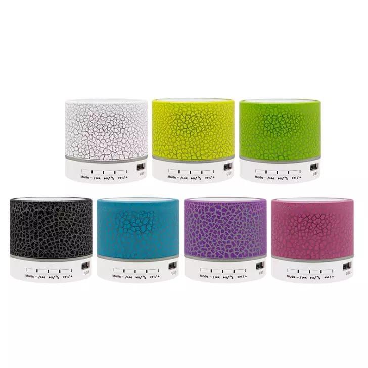 Колонка LED Мини Беспроводная Bluetooth Красочный свет Малый Crack Звук душ карты Динамик сабвуфера Поддержка TF