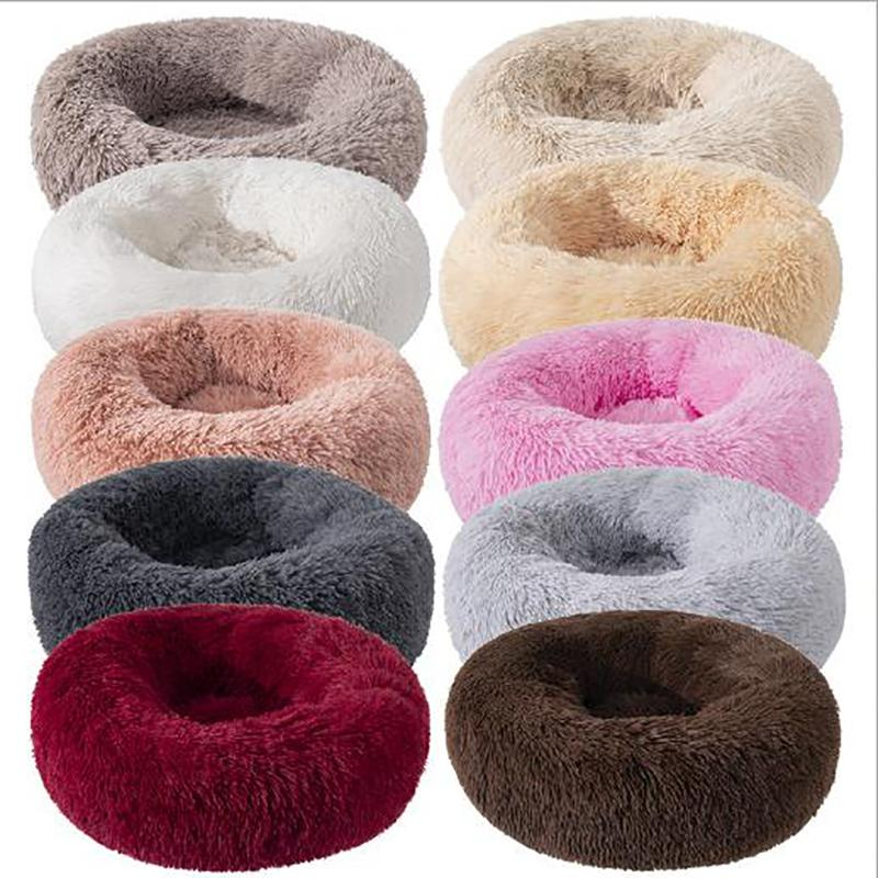Pet Bed House Soft Long Plush Kennel Puppy Cushion Bed For Dogs Basket Pet Products Cushion Comfortable for Dog / Cat House Sofa 201111