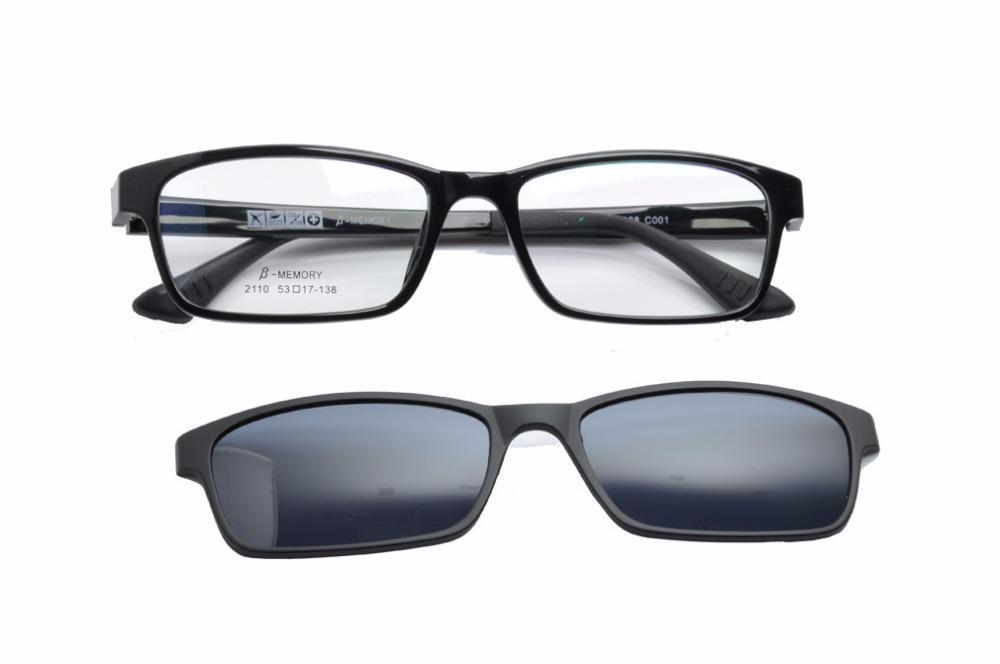 Deding 2020 Polarisierte Rezept Frames Magnetclip auf W / TR90 optischen Rahmen Männer Brillen Sonnenbrillen DD1409NEW