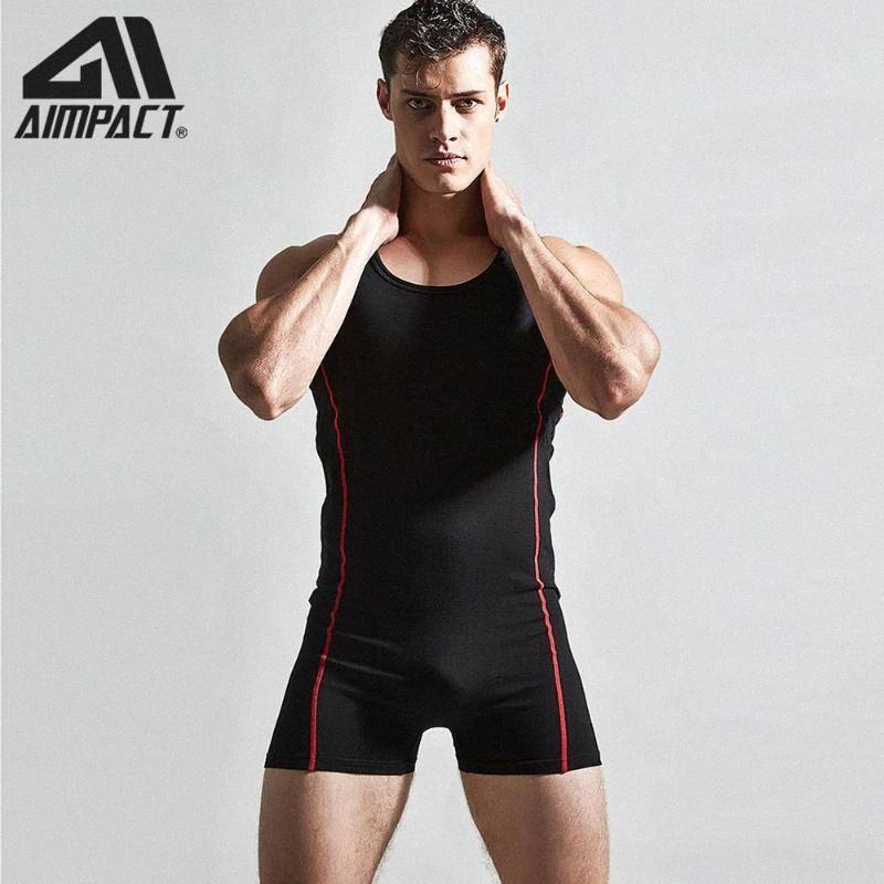 Sexy Homme Sportwear Tenues Hommes Coton Débardeur Shorts Bodybuilding Fitness Workout Training barboteuses Skinny Body AMLT002 U5HF #