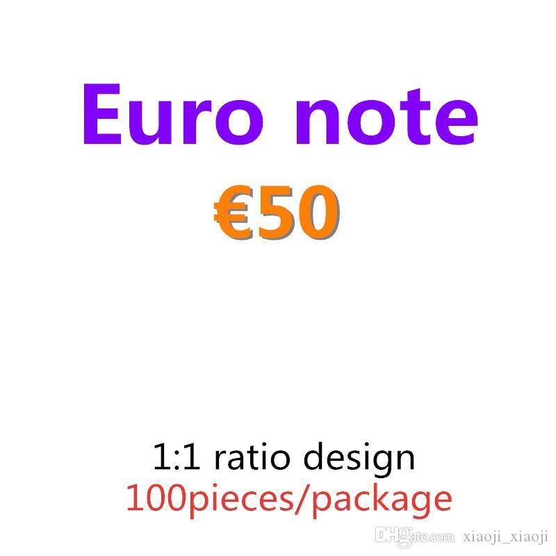 Притвориться лучший фильм Beart Movie 100 шт. / Упаковка Банкнота 50 евро Копировать деньги бумаги Бар PROP Money и 05 Anech