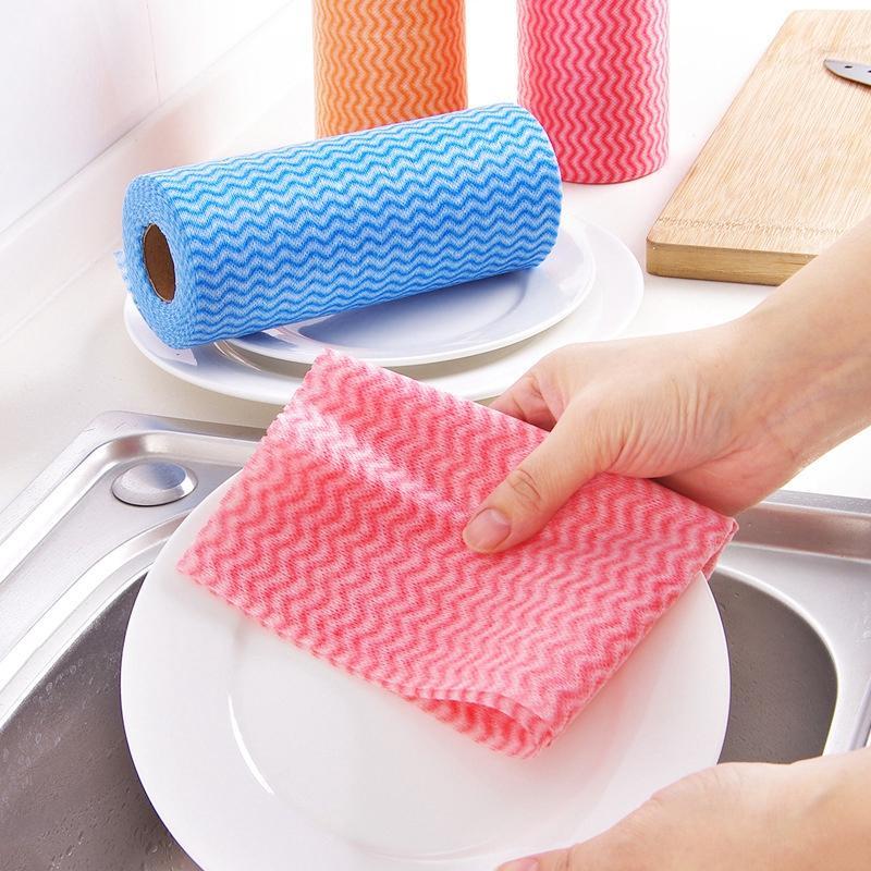 Descartável pano preguiçoso pano de prato lavável cozinha fiail sem fio sem tecido não é fácil to tocar limpeza de óleo limpe pano dbc bh4631