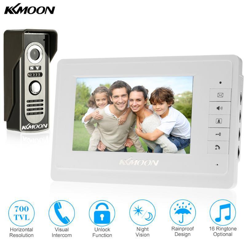 KKmoon®-Video-Türsprech 7''Inch Wired Video-Türsprech Visuelle Intercom-Türklingel-Monitor-Kamera-Kit für Home Security