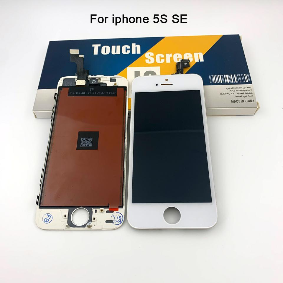 For Iphone 5s 5 SE Lcd Display Touch Panels Touch Screen Digitizer Full Assembly Replacement Repair Parts & free shipping