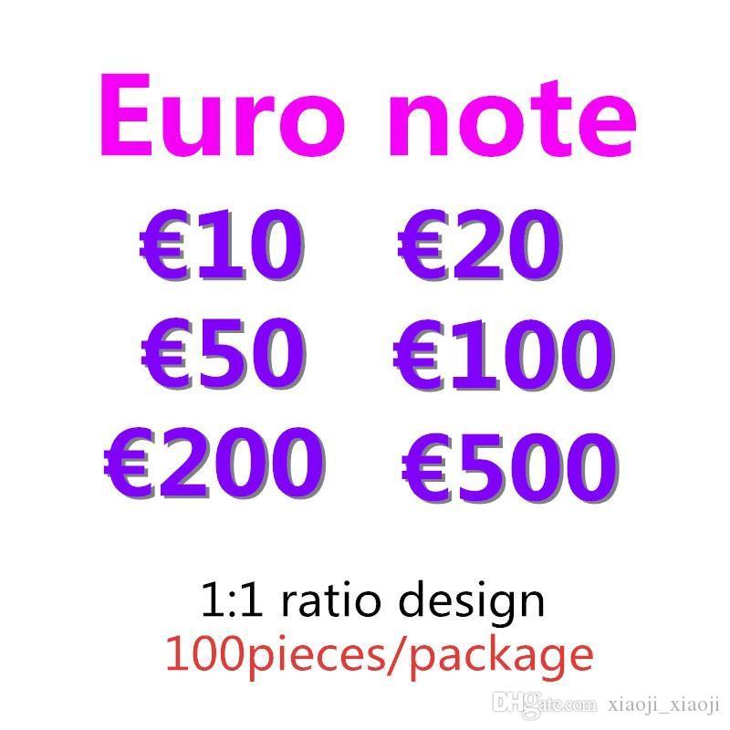 500 copia euro denaro bambini giocattolo faux billet 20 10 50 07 200 festivi soldi 100 partiti giochi token prop collezione regali falsi baklh
